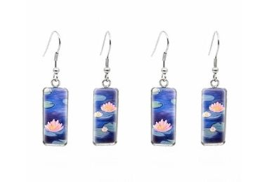 custom Water Lilies Jewelry Earrings wholesale manufacturer and supplier in China