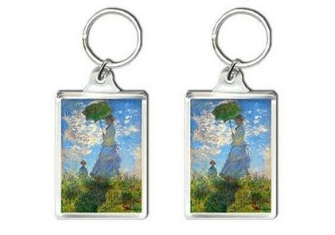 custom Woman with a Parasol Keyring wholeale manufacturer and supplier in China