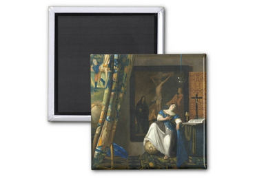 custom Johannes Vermeer Tinplate Magnet wholesale manufacturer and supplier in China