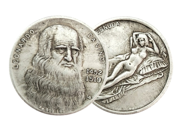 custom Leonardo Da Vinci Coins wholesale manufacturer and supplier in China