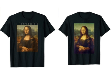 custom Mona Lisa Souvenir T-shirts wholesale manufacturer and supplier in China